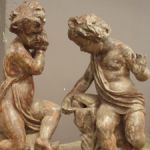 Rare Pair of French 19th Century Cast Iron Fountains