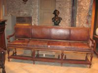 Leather Snooker Bench