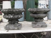 Pair of Small French Stone Urns
