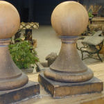 English Terra Cotta Gate Pier Finials