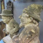 Pair of 19th Century Bath Stone Figures