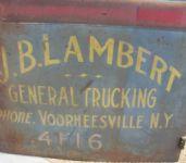 Vintage Delivery Truck Door