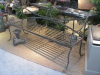 19th Century Scottish Wrought Iron Bench