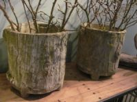 Pair of French Faux Bois Planters