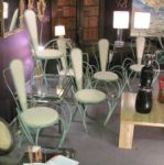 Set of Six French Garden Chairs