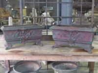 Pair of French Cast Iron Jardinieres
