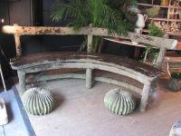 French Faux Bois Garden Seat