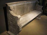 Large Italian Marble Garden Seat