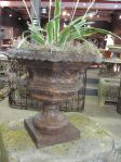 19th Century French Cast Iron Garden Urn