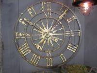 Flemish Wrought Iron Clock Face