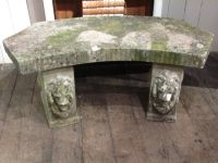 English Cast Stone Garden Bench