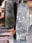 Pair of English Carved Stone Bollards