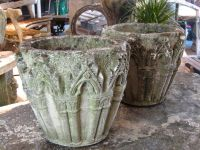 Pair of English Gothic Style Urns