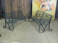 Pair of  English Wrought Iron Benches