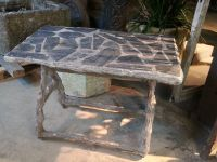 Slate Inlaid Faux Bois Table