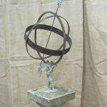 Armillary on Stone Pedestal