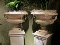 Pair of 19th English Terracotta Urns by Pulham