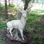 French Stag Statue