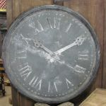 French Zinc Clock Face