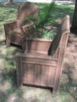 Pair of Oversize French Rattan Chairs