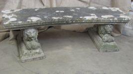 English Reconstituted Stone Garden Seat