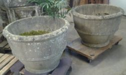 Large English Reconstituted Stone Planters