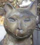 French Terracotta Cat Figure