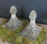 French Carved Stone Finials