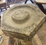 Tall English Carved Stone Birdbath