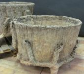 Large Pair of French Faux Bois Planters