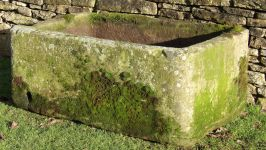 English Carved Stone Trough