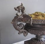 Antique French Dragon Handled Urns