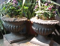 19th Century English York Stone Urns