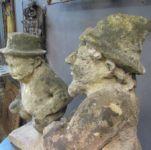Pair of 19th Century Bath Stone Figures