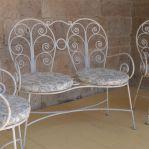 French Three Piece Wrought Iron Set