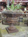 19th Century French Cast Iron Garden Urn