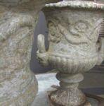Pair of English Cast Iron  Urns