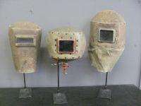 Set of Three Early 20th Century Welder's Masks