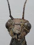 Mixed Metal Praying Mantis Sculpture