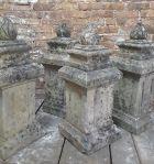 Rare Set of Four French Limestone Finials