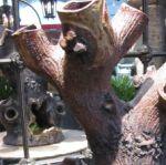 Rustic Stoneware Tree Stump Planter