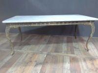 Italian Marble Top  Iron Table